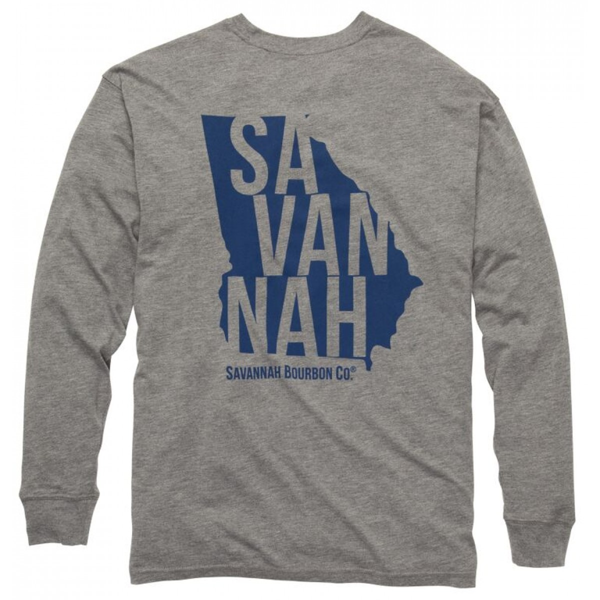 Bourbon State Long Sleeve Tee: Heather Grey